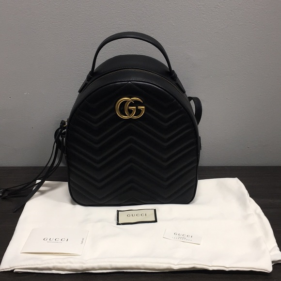 37883fd8e8be Gucci Bags | Marmont Quilted Leather Backpack Marmont | Poshmark